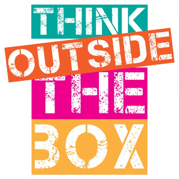 Spruch Wandtattoo Think outside the box Familien Wanddekoration
