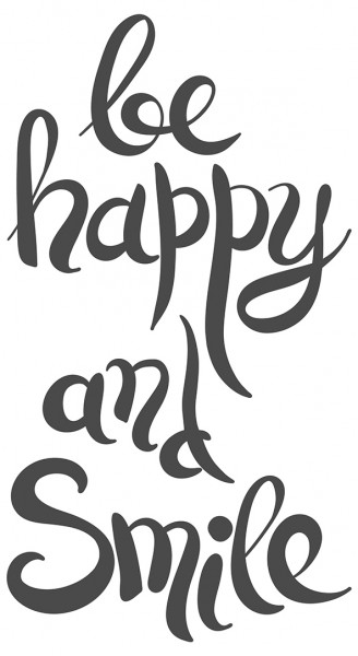 Spruch Wandtattoo Motto Be happy and smile Wandsticker