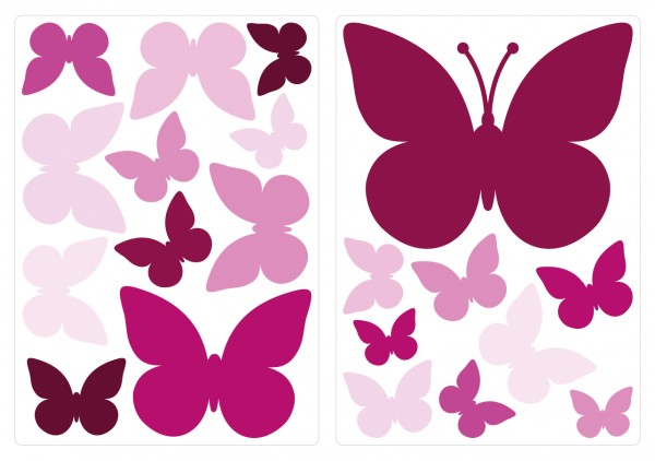 Wandtattoo-Set Schmetterlinge Orchidee Wandsticker
